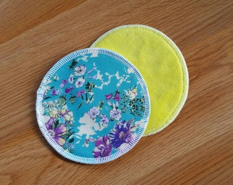 PUL outer breast pads - bamboo fleece nursing pads - breastfeeding pads - cotton velour breast pads - washable - reusable pads - waterproof