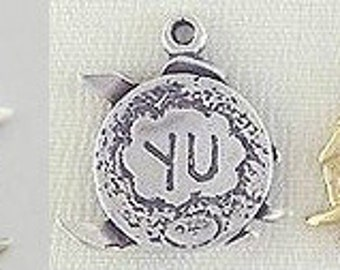 Kanji Friendship Fortune Eternity Energy Charm Pendant Yu Fu Yong Chi Sterling Silver Gold Vermeil Small  Japanese Chinese FREE SHIPPING
