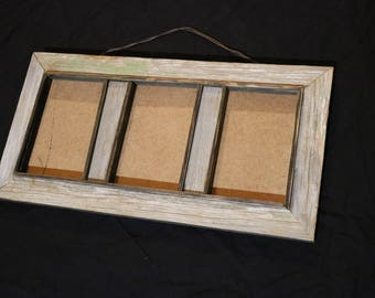 5x7 Barnwood Collage Frame