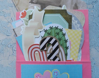 Hot Pink Girly Loaded Envelope - Ephemera