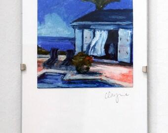 "Mini Pastel Drawing ""Terrace"""