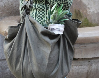 """FUROSHIKI bags. Fabric of flax or cotton 90 by 90 cm (35.43 """"x35.43""""), bag reusable, eco-friendly, versatile. Choose the fabric and belt."""