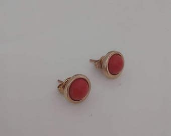 Antique earrings with coral 80 years