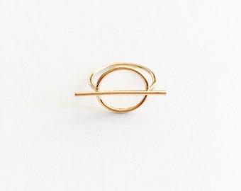 Circle bar ring, dainty ring, minimal ring