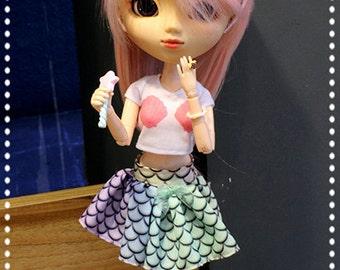 Mermaid Shell Cropped Shirt for Dolls