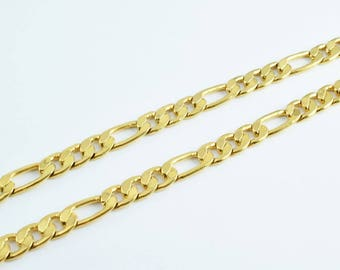 """Gold Filled Figaro Chain 18KT Gold Filled Size 17 3/4"""" Inches  Item #CG1"""