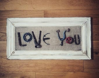 I LOVE YOU picture sign
