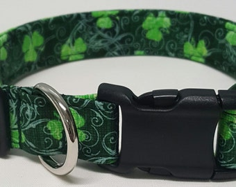 Dog Collar, Victorian Shamrocks