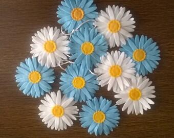 Blue Daisy Chain Decoration Daisy Lover Nursery Decoration Kitchen Decor Room Ideas