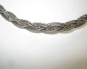 Q-70 Vintage Necklace  925  silver choker 14 in long