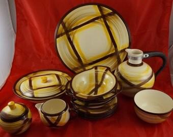 VERNON KILNS Part Dinnerware Set Pattern Organdie no. 511