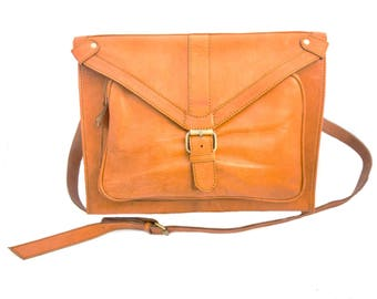 Laptop satchel Leather Bag