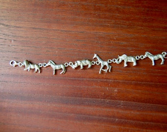 Vintage Safari Animal Bracelet