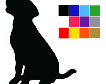 Black Labrador Stickers. Two Sizes. Labrador Gifts. Black Labrador Decals. Dog Decals. Craft Supplies. FREE UK Shipping.