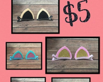 Cat Ears - Cat or Animal Hair Clips - Set of 2