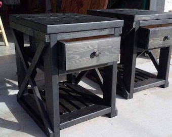 Wood Night Stand Wood End Tables Painted Wood Night Stands Painted Wood End Tables Stained Wood Night Stand Painted Wood End Tables Rustic