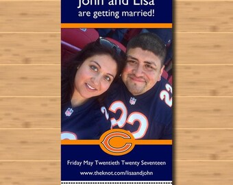 Ticket Style Save The Date - Sports Themed - Bears, Hawks
