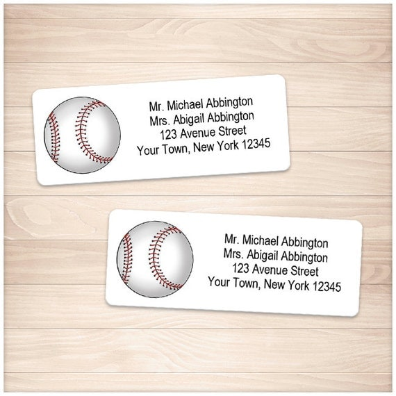 printable baseball address labels sports athletic ball