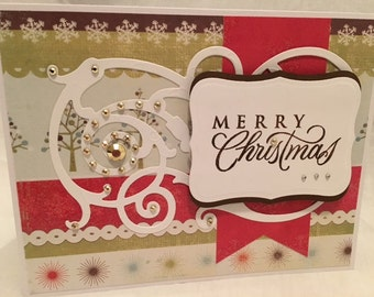 Merry Christmas Cards, Christmas Card, Handmade Christmas Card