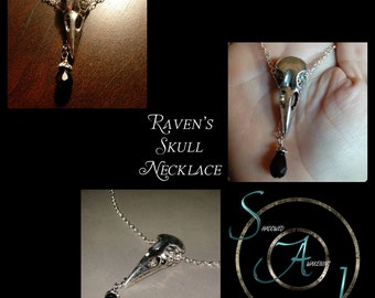 Raven's Skull Necklace V2
