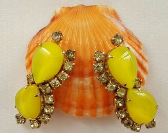 Electric Yellow Earrings
