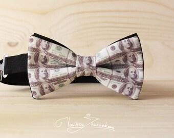 Benjamin Franklin 100 dollars Bow tie - Bowtie