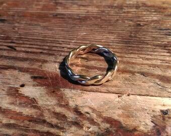 Brass Ring braided Viking Celtic medieval