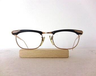 Optura Eye Glasses Oval Gold Filled for Lady Glossy 60's Eyeglasses Eyewear FREE SHIPPING Her She Women Metzler 48-20-140 Men Man Gift Idea