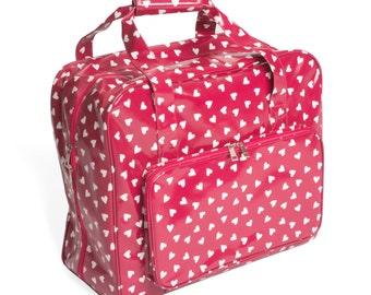 Hobbygift Hearts Pattern Sewing Machine Storage Bag