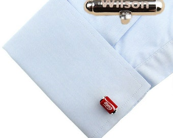 PersonalizedWeddingCufflinks,Coca Cola Cufflinks ,Coke Can Cuff Links,Best Gift For Dad Groomsmen Cufflinks Groomsmen Gifts Gifts for Him