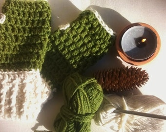 wool fingerless gloves, sleeves in wool, wool hand warmers, hand warmers, crochet fingerless gloves