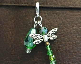 Green Dragonfly Planner Charm