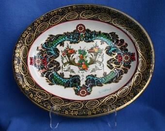 Daher Decorated Ware  Cornucopia Fruit Tin Tray