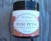 Pin Up Cosmetics Rose Petal Face Cream/ Lightweight Hydrating for All Skin Types