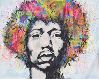 Hendrix Fro Art Print