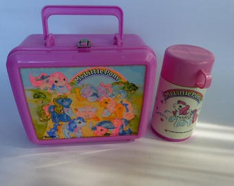 1987 My Little Pony Lunch Box + Thermos PINK!