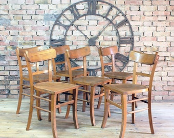 Set of 6 chairs Bistro 50 years.
