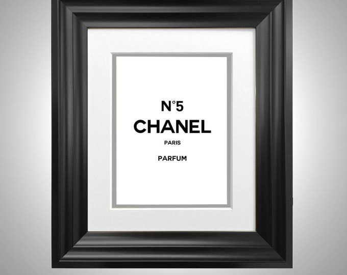 Vintage Perfume Original Style Print Classic Advertising Framed & Double Mounted No5