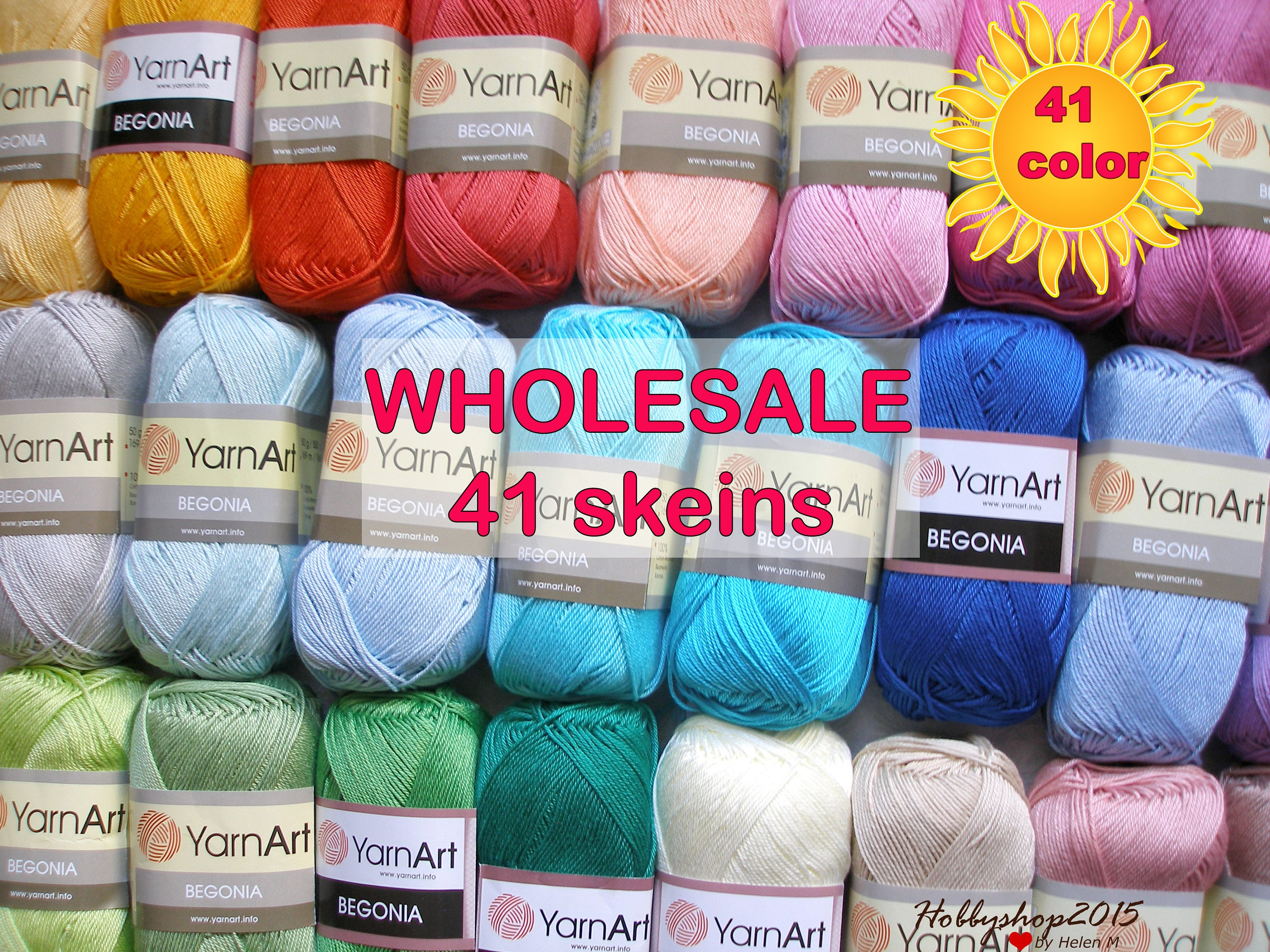 Design Yarn Art mercerized cotton yarn crochet yarnart wholesale 41