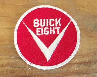 Vintage  Patch  Buick Eight   Patch for Jackets and Vests    Buick Eight   1970 Vintage Patch