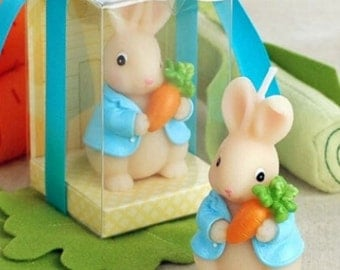 Cute 3D Rabbit holding a Carrot Silicone Mould