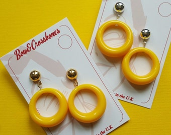 Lois hoop earrings - Yellow