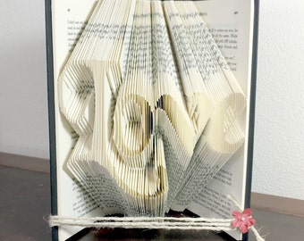 3D Love Gift for Her, Love 3D Art, 3D Book Art, 3D Wedding Art, Love 3D Gift, 3D shelf Art, 3D Couples gift
