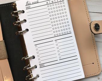 Weekly Task Checklist Planner Inserts #3