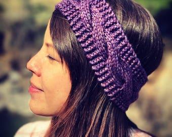 Headband braid mat woollen knitted Jersey foam is hand - Made in France