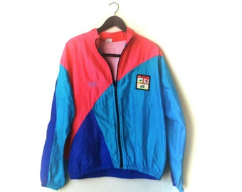 Rad vintage 1980s neon Coors Light windbreaker jacket and jogging pants tracksuit