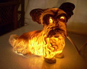 Vintage German Perfume Dog Lamp