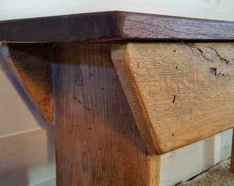 Bench, Rustic Bench, Reclaimed Oak, Locally Sourced Oak, Farmhouse Bench, Foyer Bench, Mudroom Bench, Entry Bench,  Plant Stand Bench