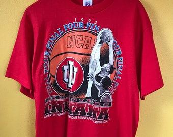 Indiana Hoosiers vintage 90s NCAA baketball t-shirt Large