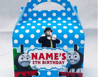 Thomas Tank Engine Modern Cbeebies Personalised Children's Party Box Gift Bag Favour